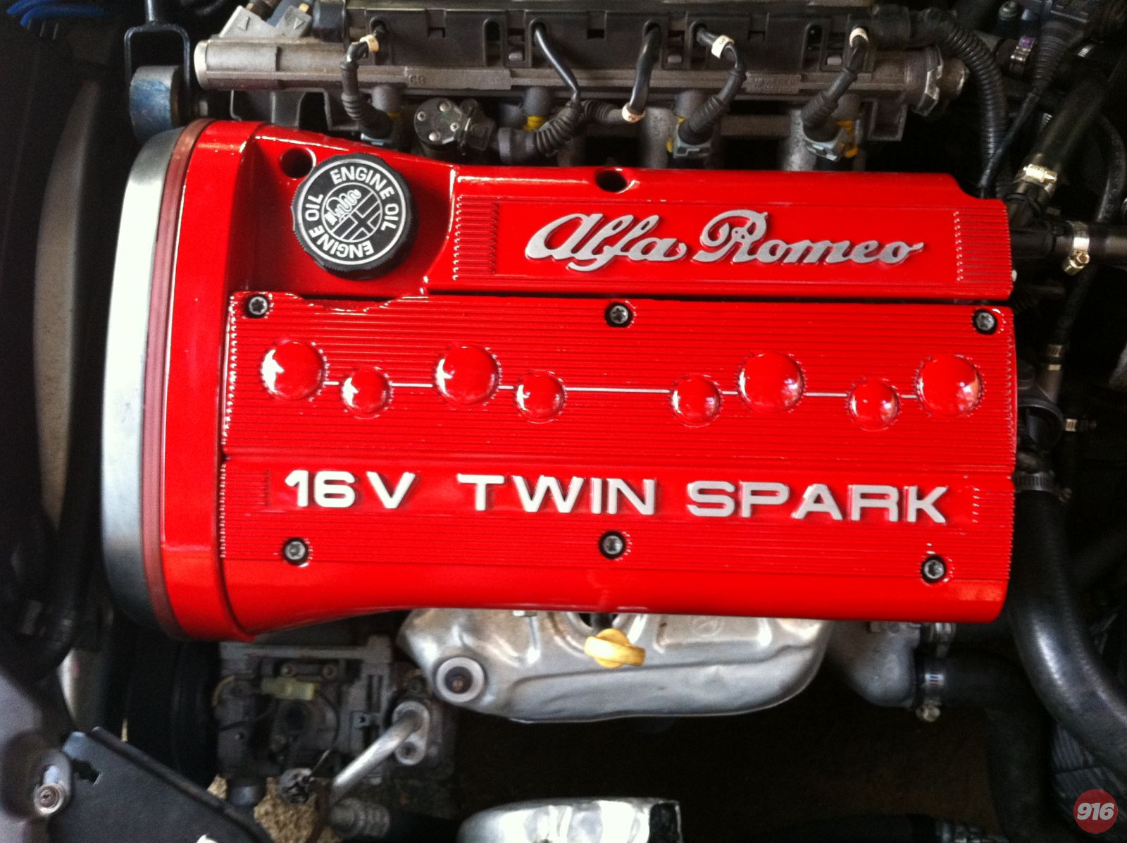 CF1 twin spark engine cover red